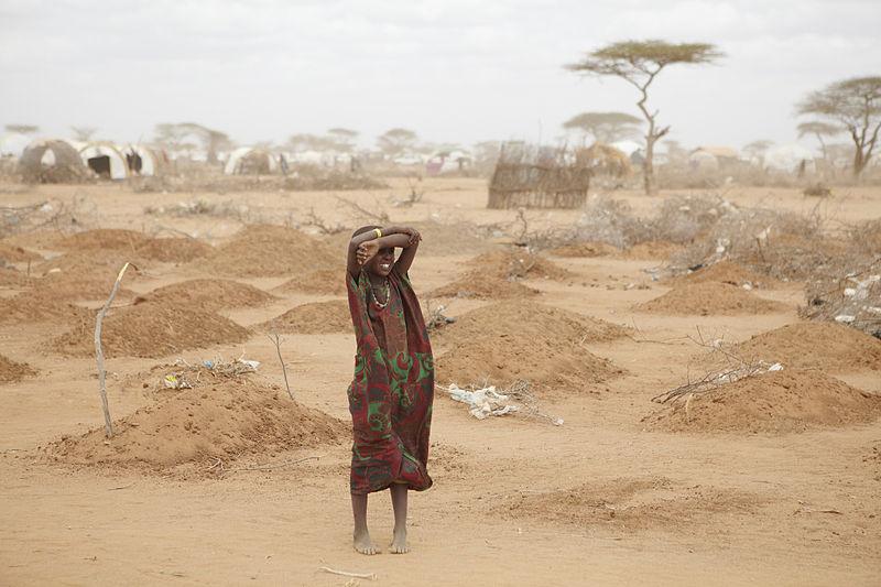Massengrab fuer Kinder in Dadaab