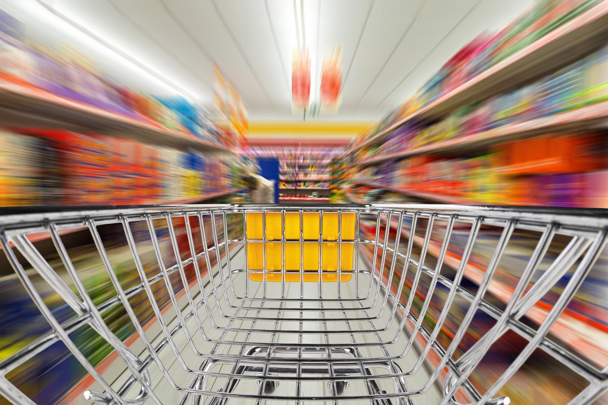 Konsum im Supermarkt.