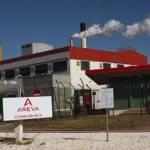 Fabriktor Areva Comurhex bei Malvési Fabriktor Areva Comurhex bei Malvési | Bild (Ausschnitt): © Moulins - Wikimedia Commons