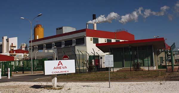 Fabriktor Areva Comurhex bei Malvési Fabriktor Areva Comurhex bei Malvési |  Bild: © Moulins [CC BY-SA 3.0]  - Wikimedia Commons
