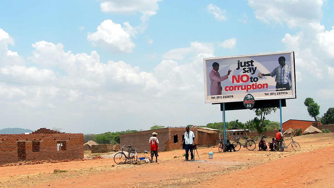 """Just say No to corruption""-Plakat"