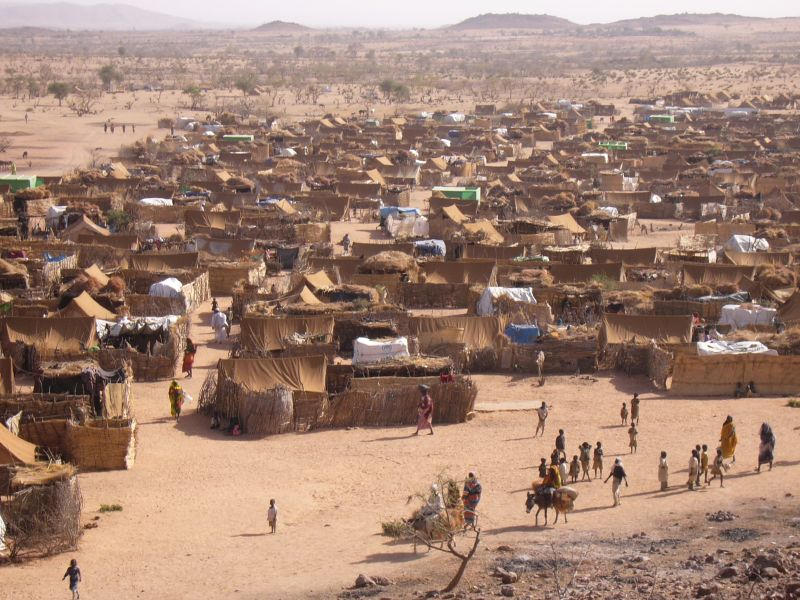Ein Fluechtlingscamp im Tschad.