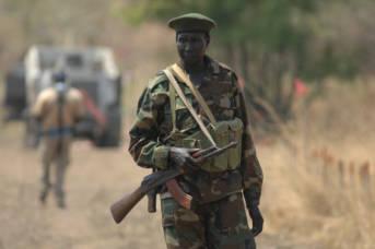 Soldat im Sudan