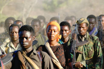 Indigene Bevölkerungsgruppe Oromo. Mitglieder der Bevölkerungsgruppe der Oromo |  Bild: © Jonathan Alpeyrie [CC BY-SA 3.0]  - Wikimedia Commons
