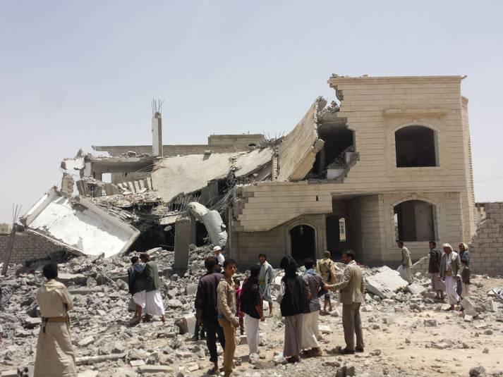Ein zerbombtes Haus in Jemens Hauptstadt Sanaa. Ein zerbombtes Haus in Jemens Hauptstadt Sanaa.    Bild: © Ibrahem Qasim - Wikimedia Commons
