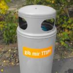 Mülleimer-Gib mir TTIP. Mülleimer-Gib mir TTIP. | Bild (Ausschnitt): © Jan Schwefel - wikimedia commons