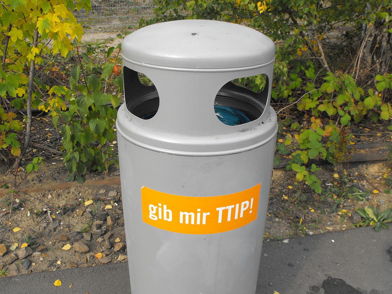 Mülleimer-Gib mir TTIP.