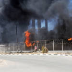 Power Plant Hit in Gaza: Smoke and flames rise from the power plant in Gaza that was hit by missile strikes in 2014. | Bild (Ausschnitt): © United Nations Photo [CC BY-NC-ND 2.0] - flickr