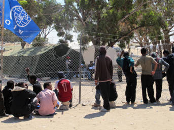 Shousha refugee camp, at the Libyan border (Tunisian side). April 2011. | Bild: © Guerric [CC BY-NC-ND 2.0]  - flickr