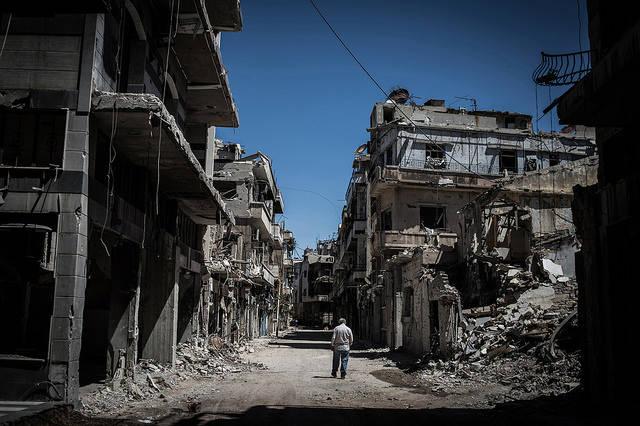 Zerstörte Stadt in Syrien Das Ausmaß der Zerstörung in Syrien ist nach mehr als acht Kriegsjahren immens |  Bild: ©  Chaoyue 超越 PAN 潘 [CC BY-NC-ND 2.0]  - Flickr