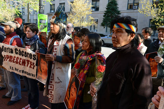 Proteste der Einheimischen anlässlich der Ermordung von Berta Cáceres    Bild: © Comisión Interamericana de Derechos Humanos [CC BY 2.0]  - Flickr