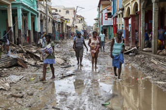"Haiti nach dem verheerenden Sturm ""Matthew""  
