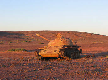 Marokkanischer Panzer in Westsahara | Bild: ©  Nick Brooks [CC BY-NC-ND 2.0]  - Flickr