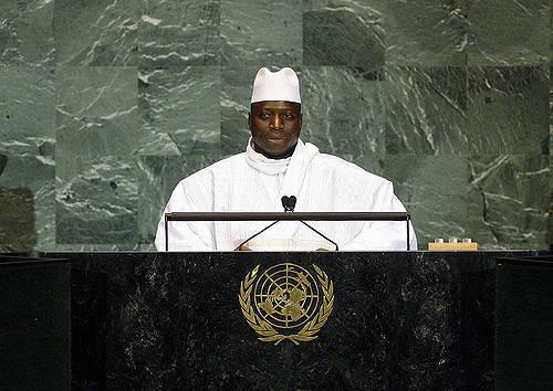 Gambias ehemaliger Diktator ruinierte die Wirtschaft Gambias Ex-Präsident  Yahya Jammeh trägt Schuld an der hohen Emigrationsrate  |  Bild: © United Nations Photo [CC BY-NC-ND 2.0]  - Flickr