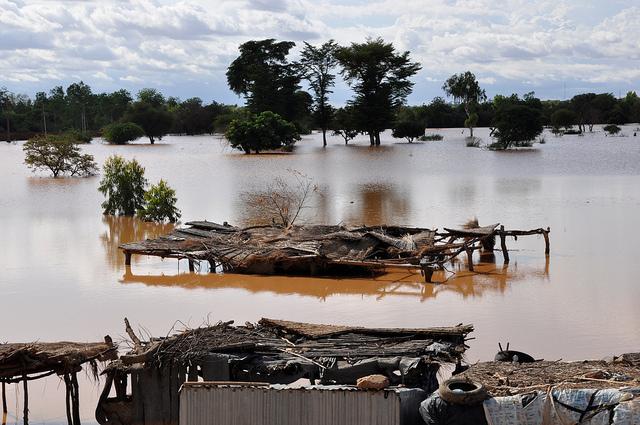 Überschwemmung des Niger in der Hauptstadt Niamey