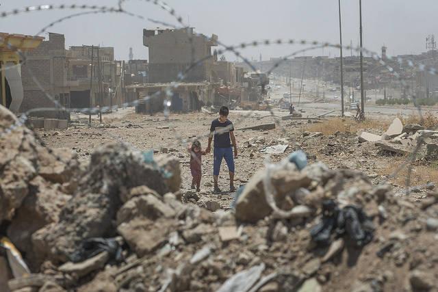Syrien Mossul Die Stadt Mossul wurde während der Kämpfe schwer beschädigt.   Bild: © European Commission DG ECHO [CC BY-NC-ND 2.0]  - Flickr