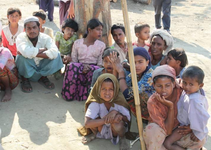 Rohingya-Flüchtlinge Vertriebene Rohingya aus Rakhaing | Bild: © Foreign and Commonwealth Office [OGL]  - Wikimedia Commons
