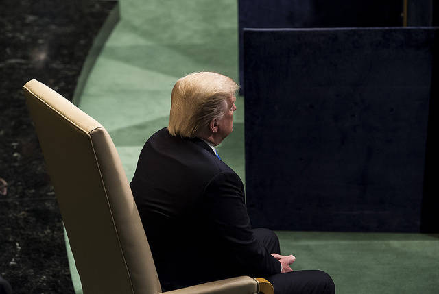 Trump UNO US-Präsident Trump bei der UN-Generalversammlung. Dreht er den Vereinten Nationen bald den Rücken zu? | Bild: © United Nations Photo [CC BY-NC-ND 2.0]  - Flickr
