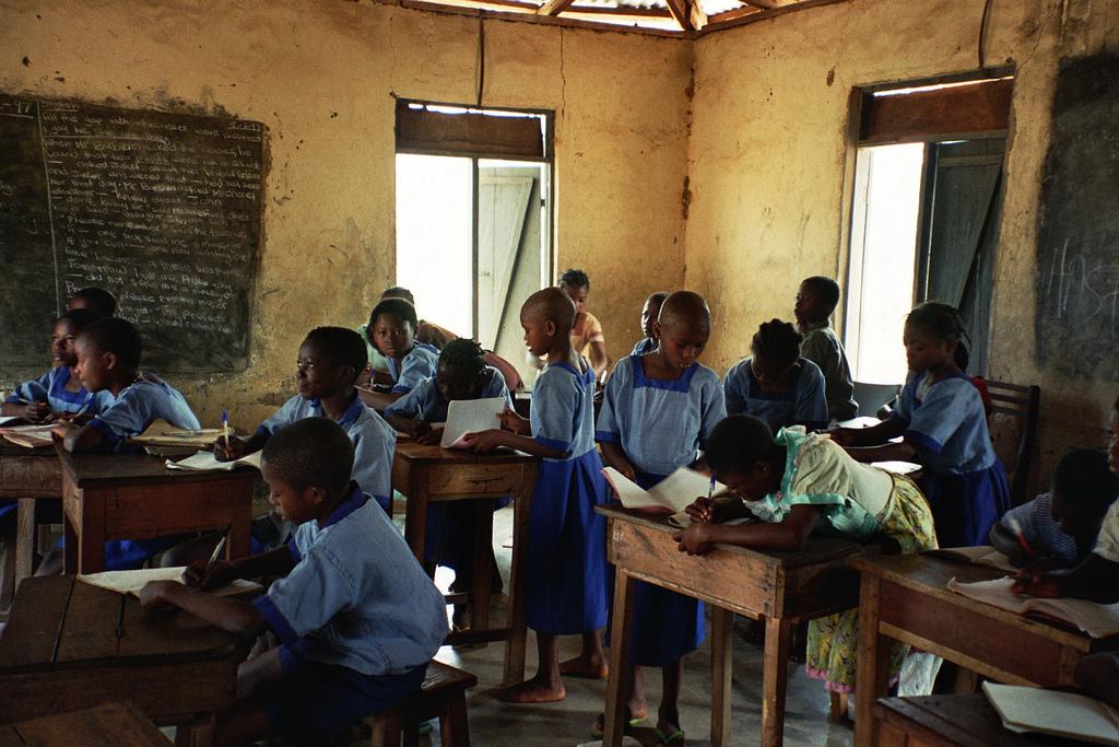 Klassenzimmer in Nigeria