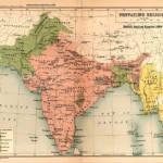 Britisch-Indisches Kolonialreich Im 19. Jahrhundert führten die Briten einen siegreichen Krieg gegen Birma und schlugen es ihrem indischen Kolonialgebiet zu. Sowohl die Rohingya als auch die Birmesen fielen unter ihre Kolonialherrschaft. | Bild (Ausschnitt): © John George Bartholomew [CC0 1.0] - Wikimedia Commons