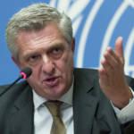 Filippo Grandi, hoher Flüchtlingskommissar der Vereinten Nationen UN-Flüchtlingskommissar Grandi verweist auf mehrere aktuelle Krisen, wie den Konflikt in Syrien und die Gewalt im Irak, welche zusammen ein Viertel aller Vertriebenen ausmachen. | Bild (Ausschnitt): © UN Geneva [CC BY-NC-ND 2.0] - Flickr