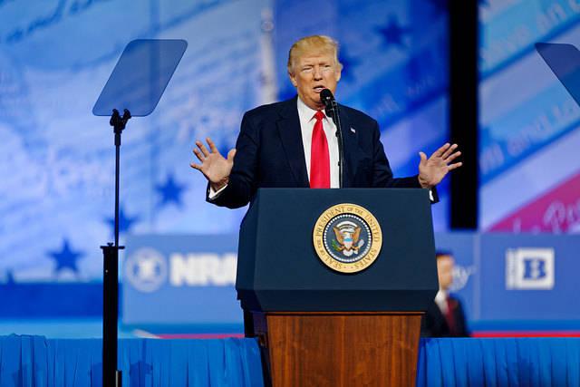 Trump Speech Führende Staatenlenker grenzen laut Amnesty Minderheiten aus |  Bild: © Michael Vadon [CC BY 2.0]  - Flickr