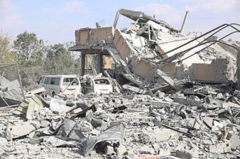 Syrien Folgen eines amerikanischen Luftschlags nahe der Stadt Damaskus. Der Region Idlib könnte in der nächsten Zeit das selbe Schicksal drohen  |  Bild: © Tasnim News Agency [CC BY 4.0]  - Wikimedia Commons