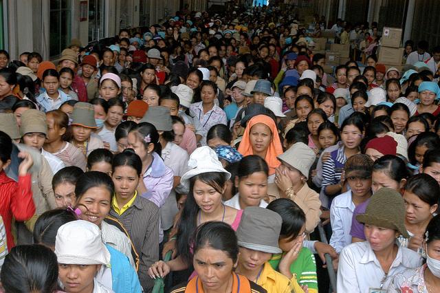 Kambodschanische Fabrikarbeiter