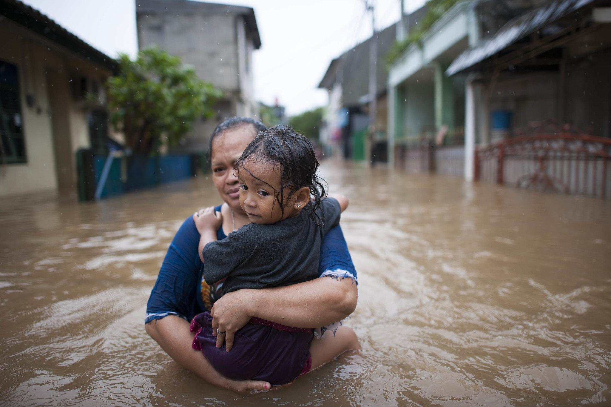 Überschwemmung in Jakarta