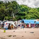 geflohene Warao-Indigene in Brasilien Unterkunft der geflohene Warao-Indigene in brasilianische Ort Boa Vista | Bild (Ausschnitt): © Amazônia Real [CC BY 2.0] - Flickr