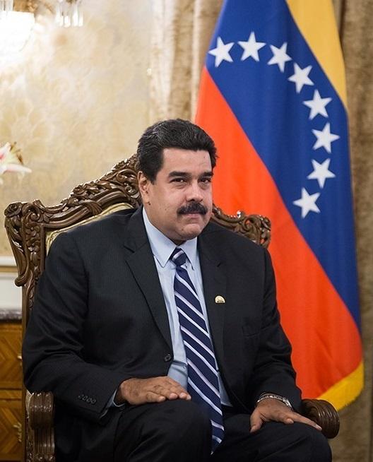 Nicolás Maduro während eines Treffens mit dem iranischen Präsidenten Hassan Rouhani in der Saadabad Palastanlage am 23. November 2015